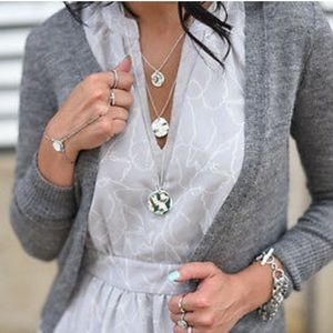 Chloe + Isabel Paillette Three Row Necklace